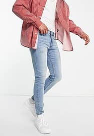 New Look Schmale Jeans in altblauer Waschung