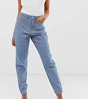 Missguided Mom-Jeans mit hoher