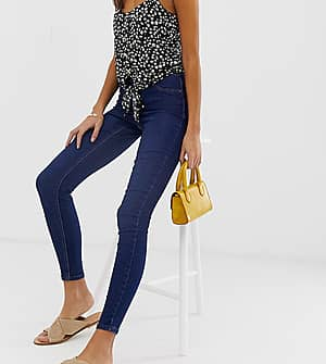 New Look Emilee - Blau verwaschene Jeggings - Blau