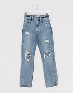 Abercrombie & Fitch Jeans mit hoher