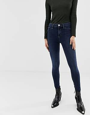 River Island Molly – Enge Jeans in dunkler Waschung-Blau